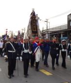 Solemne peregrinación a primera hota del día 5 de abril, desde el Estadio Municipal Coronel Santiago Bueras, hasta el Santuario Nacional de Maipú (22)