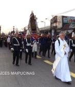 Solemne peregrinación a primera hota del día 5 de abril, desde el Estadio Municipal Coronel Santiago Bueras, hasta el Santuario Nacional de Maipú (23)