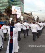 Solemne peregrinación a primera hota del día 5 de abril, desde el Estadio Municipal Coronel Santiago Bueras, hasta el Santuario Nacional de Maipú (25)