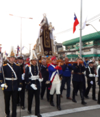 Solemne peregrinación a primera hota del día 5 de abril, desde el Estadio Municipal Coronel Santiago Bueras, hasta el Santuario Nacional de Maipú (26)