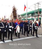 Solemne peregrinación a primera hota del día 5 de abril, desde el Estadio Municipal Coronel Santiago Bueras, hasta el Santuario Nacional de Maipú (27)