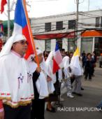 Solemne peregrinación a primera hota del día 5 de abril, desde el Estadio Municipal Coronel Santiago Bueras, hasta el Santuario Nacional de Maipú (28)