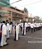 Solemne peregrinación a primera hota del día 5 de abril, desde el Estadio Municipal Coronel Santiago Bueras, hasta el Santuario Nacional de Maipú (34)