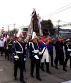 Solemne peregrinación a primera hota del día 5 de abril, desde el Estadio Municipal Coronel Santiago Bueras, hasta el Santuario Nacional de Maipú (35)