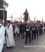 Solemne peregrinación a primera hota del día 5 de abril, desde el Estadio Municipal Coronel Santiago Bueras, hasta el Santuario Nacional de Maipú (39)