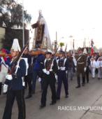 Solemne peregrinación a primera hota del día 5 de abril, desde el Estadio Municipal Coronel Santiago Bueras, hasta el Santuario Nacional de Maipú (40)