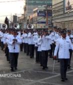 Solemne peregrinación a primera hota del día 5 de abril, desde el Estadio Municipal Coronel Santiago Bueras, hasta el Santuario Nacional de Maipú (45)