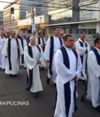 Solemne peregrinación a primera hota del día 5 de abril, desde el Estadio Municipal Coronel Santiago Bueras, hasta el Santuario Nacional de Maipú (46)