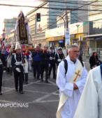 Solemne peregrinación a primera hota del día 5 de abril, desde el Estadio Municipal Coronel Santiago Bueras, hasta el Santuario Nacional de Maipú (47)