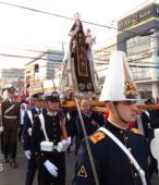 Solemne peregrinación a primera hota del día 5 de abril, desde el Estadio Municipal Coronel Santiago Bueras, hasta el Santuario Nacional de Maipú (49)