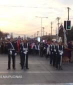 Solemne peregrinación a primera hota del día 5 de abril, desde el Estadio Municipal Coronel Santiago Bueras, hasta el Santuario Nacional de Maipú (5)