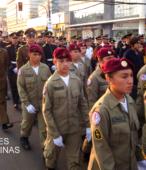 Solemne peregrinación a primera hota del día 5 de abril, desde el Estadio Municipal Coronel Santiago Bueras, hasta el Santuario Nacional de Maipú (54)