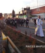 Solemne peregrinación a primera hota del día 5 de abril, desde el Estadio Municipal Coronel Santiago Bueras, hasta el Santuario Nacional de Maipú (58)