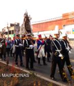 Solemne peregrinación a primera hota del día 5 de abril, desde el Estadio Municipal Coronel Santiago Bueras, hasta el Santuario Nacional de Maipú (59)