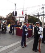 Solemne peregrinación a primera hota del día 5 de abril, desde el Estadio Municipal Coronel Santiago Bueras, hasta el Santuario Nacional de Maipú (6)