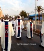 Solemne peregrinación a primera hota del día 5 de abril, desde el Estadio Municipal Coronel Santiago Bueras, hasta el Santuario Nacional de Maipú (60)