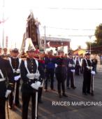 Solemne peregrinación a primera hota del día 5 de abril, desde el Estadio Municipal Coronel Santiago Bueras, hasta el Santuario Nacional de Maipú (64)