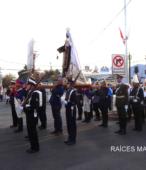 Solemne peregrinación a primera hota del día 5 de abril, desde el Estadio Municipal Coronel Santiago Bueras, hasta el Santuario Nacional de Maipú (66)