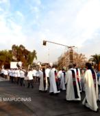 Solemne peregrinación a primera hota del día 5 de abril, desde el Estadio Municipal Coronel Santiago Bueras, hasta el Santuario Nacional de Maipú (67)