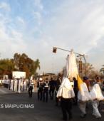Solemne peregrinación a primera hota del día 5 de abril, desde el Estadio Municipal Coronel Santiago Bueras, hasta el Santuario Nacional de Maipú (69)