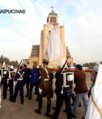 Solemne peregrinación a primera hota del día 5 de abril, desde el Estadio Municipal Coronel Santiago Bueras, hasta el Santuario Nacional de Maipú (76)